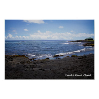 Punalu'u Black Sand Beach • Hawaii Poster