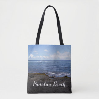 Punaluu Black Sand Beach Hawaii Tote Bag