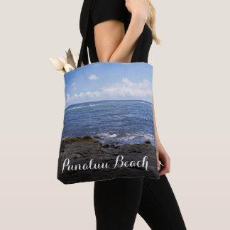 Punaluu Black Sand Beach Hawaii Tote Bag