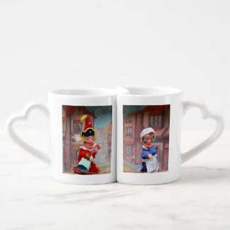 Punch and Judy nestling mugs for couples & lovers