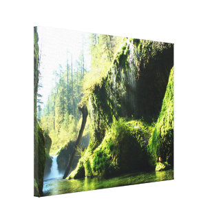 Punch Bowl Falls Eagle Creek Oregon Gallery Wrapped Canvas
