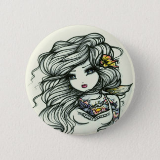Punch of Color Tattoo Girl Fairy Fantasy 6 Cm Round Badge