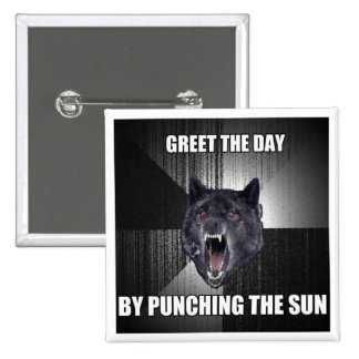 Punch The Sun 15 Cm Square Badge