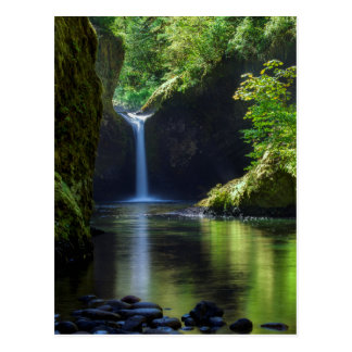 Punchbowl Falls Along Eagle Creek Trail 2 Postcard