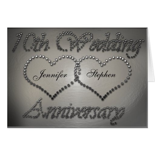 Punched Tin 10th Wedding Anniversary Card