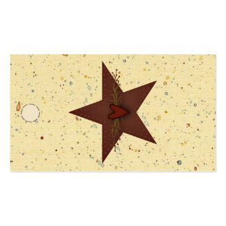 Punched Tin Star Hang Tag Business Cards