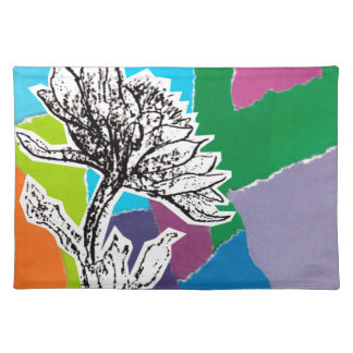 Punchy flowers placemat