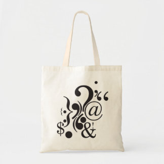 Punctuation Art Budget Tote Budget Tote Bag