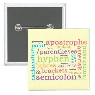 Punctuation II 15 Cm Square Badge