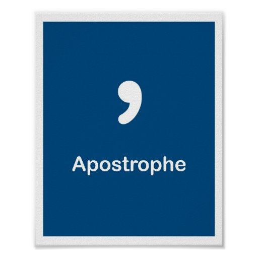 Punctuation Marks- Apostrophe Poster