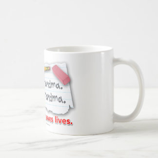 Punctuation Saves Lives Basic White Mug