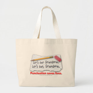 Punctuation Saves Lives Jumbo Tote Bag