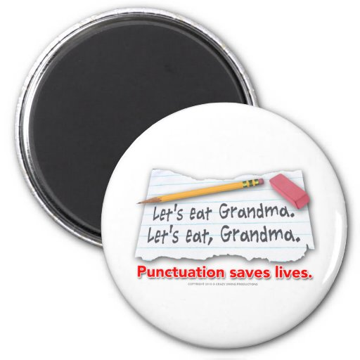 Punctuation Saves Lives Magnets