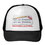 Punctuation Saves Lives Mesh Hats