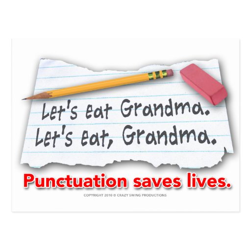 Punctuation Saves Lives Postcards