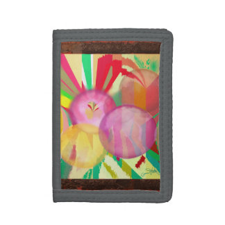 Puncture Abstract Orbs Tri-fold Wallet