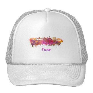Pune skyline in watercolor cap