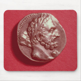 Punic coin bearing the head of Hamilcar Barca Mouse Pad