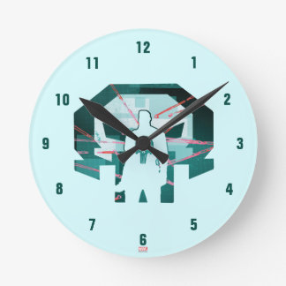 Punisher Logo Silhouette Round Clock