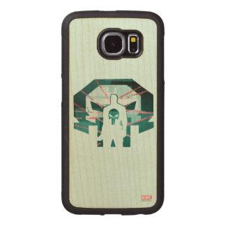 Punisher Logo Silhouette Wood Phone Case
