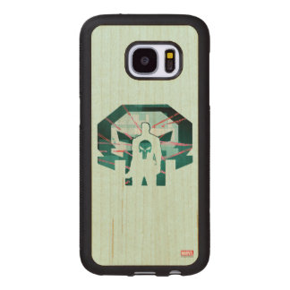 Punisher Logo Silhouette Wood Samsung Galaxy S7 Case