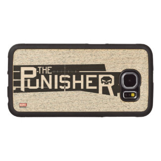Punisher Logo Wood Phone Case