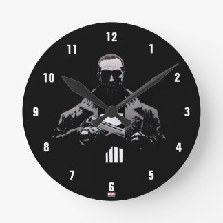 Punisher Out Of The Shadows Round Clock