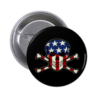 Punisher Skull Americana Flag Graphic 6 Cm Round Badge