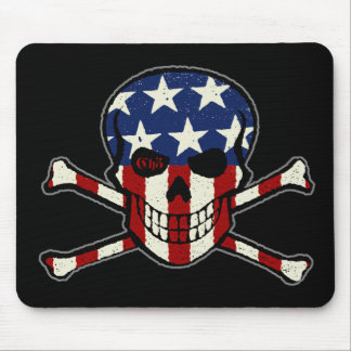 Punisher Skull Americana Flag Graphic Mouse Pad