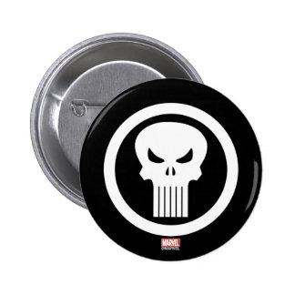 Punisher Skull Icon 6 Cm Round Badge