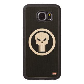 Punisher Skull Icon Wood Phone Case