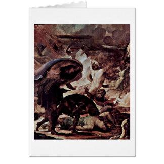 Punishment Of Fire Detail By Domenico Beccafumi Card