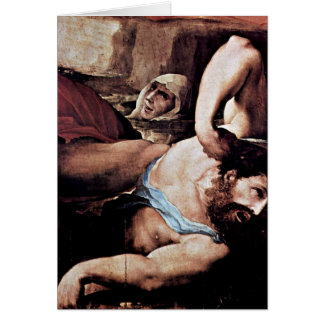 Punishment Of Fire Detail By Domenico Beccafumi Greeting Cards