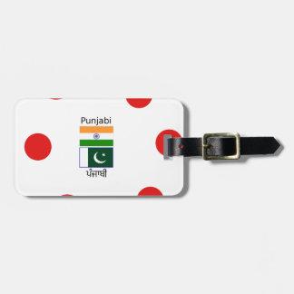 Punjabi Language With India And Pakistan Flags Luggage Tag