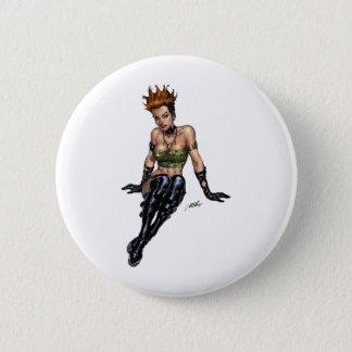 Punk Alternative Girl by Al Rio 6 Cm Round Badge