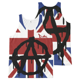 PUNK ANARCHY VEST TANK TOP BY DMT All-Over PRINT TANK TOP
