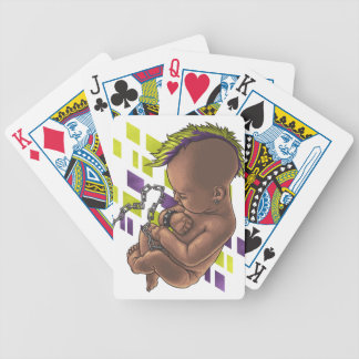 punk baby bicycle playing cards