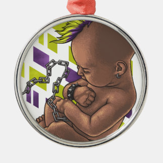 punk baby metal ornament