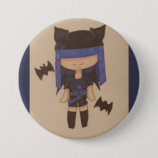Punk bat girl 7.5 cm round badge