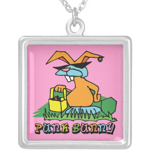 Punk Bunny Easter Necklace Personalized Necklace