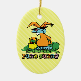 Punk Bunny Easter Ornament Christmas Tree Ornaments