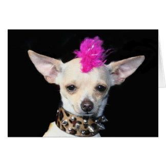Punk Chihuahua Notecard