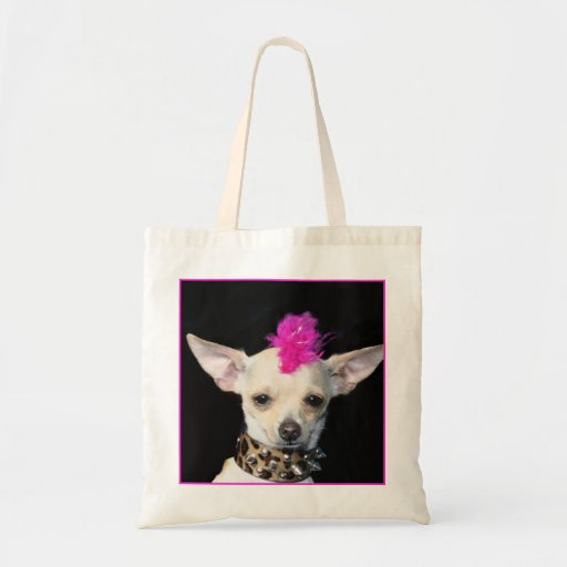 Punk Chihuahua  Tote Bag