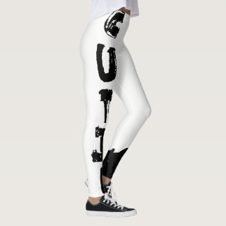 Punk Cutie, Full White Leggings