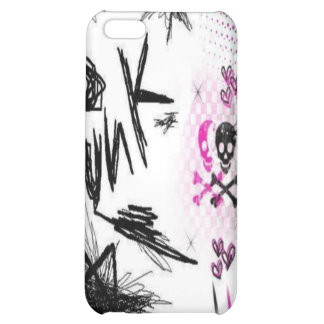 punk doodles and skulls iPhone 5C cover