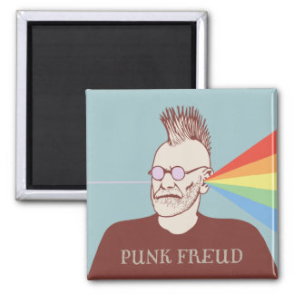 Punk Freud Square Magnet