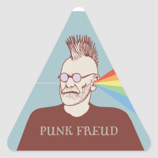 Punk Freud Triangle Sticker