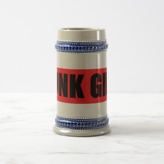 Punk Girl 18 Oz Beer Stein