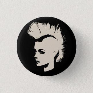 Punk Girl - university University of print - cream 3 Cm Round Badge