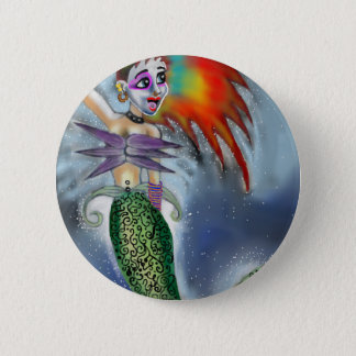 Punk goes the Mermaid 6 Cm Round Badge